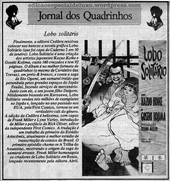Lobo Solitário, Caderno 2, 1988 (Jornal dos Quadrinhos)