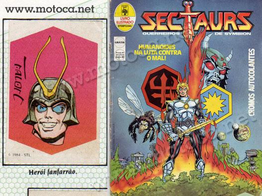 Álbum figurinhas Sectaurs