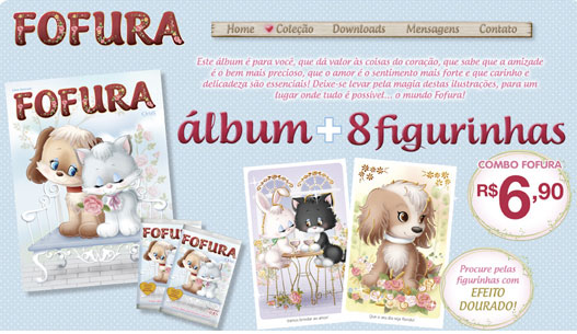 Site do novo álbum fofura
