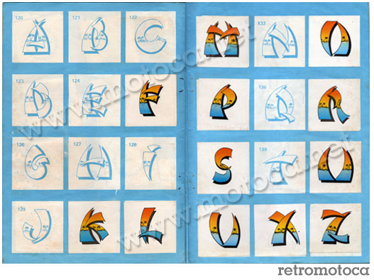 Figurinhas Letras Surf Color